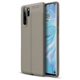 Coque Silicone Huawei P30 Pro Cuir 3D Gris