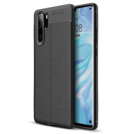 Coque Silicone Huawei P30 Pro Cuir 3D Noire