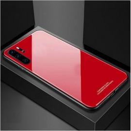 Coque Huawei P30 Pro Silicone Rouge et Verre Trempé