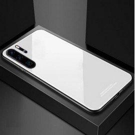 Coque Huawei P30 Pro Silicone Blanche et Verre Trempé