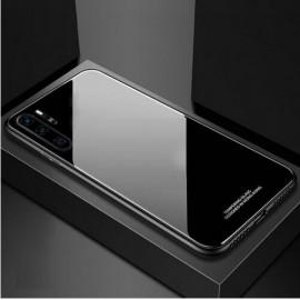 Coque Huawei P30 Pro Silicone Noire et Verre Trempé