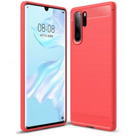 Coque Silicone Huawei P30 Pro Brossé Rouge