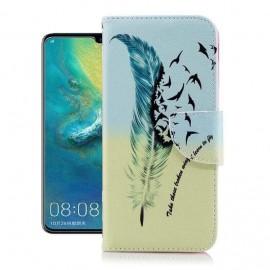 Etuis Portefeuille Huawei P30 Pro Oiseaux