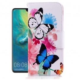 Etuis Portefeuille Huawei P30 Pro Papillon