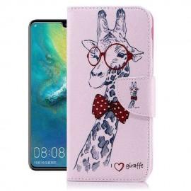 Etuis Portefeuille Huawei P30 Pro Girafe