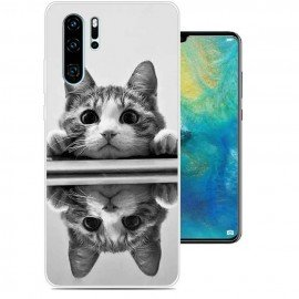 Coque Silicone Huawei P30 Pro Chat Mirroir