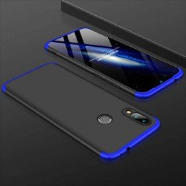 Coque 360 Samsung Galaxy A40 Noire et Bleue