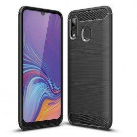 Coque Samsung Galaxy A40 Carbone TPU Noire