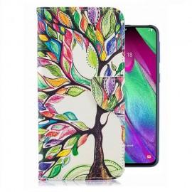 Etuis Portefeuille Samsung Galaxy A40 Arbre