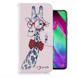 Etuis Portefeuille Samsung Galaxy A40 Girafe