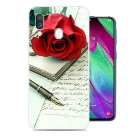 Coque Silicone Samsung Galaxy A40 Rose