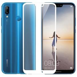 Verre trempé Huawei P20 Lite Protecteur d'écran Blanc