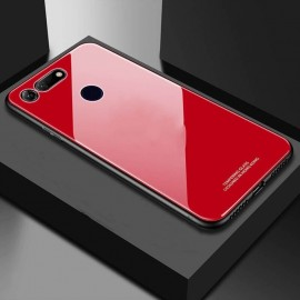 Coque Honor View 20 Silicone Rouge et Verre Trempé