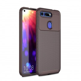 Coque Honor View 20Carbone TPU Marron