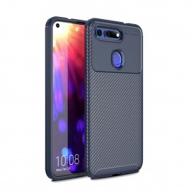 Coque Honor View 20 Carbone TPU Bleue