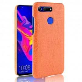 Coque Honor View 20 Croco Cuir Orange