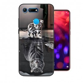 Coque Silicone Honor View 20 Chat Mirroir