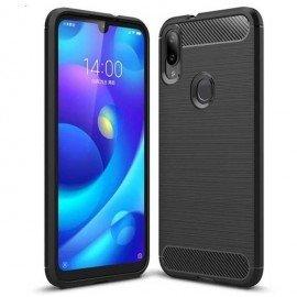 Coque Silicone Xiaomi Mi Play Brossé Noir