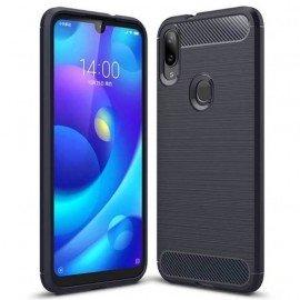 Coque Silicone Xiaomi Mi Play Brossé Bleue