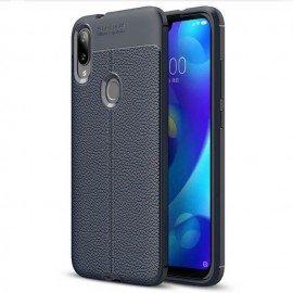 Coque Silicone Xiaomi Mi Play Cuir 3D Bleue