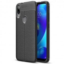 Coque Silicone Xiaomi Mi Play Cuir 3D Noire
