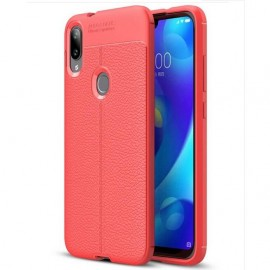 Coque Silicone Xiaomi Mi Play Cuir 3D Rouge