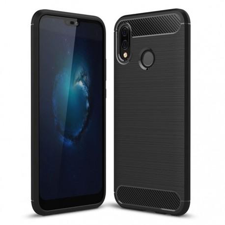 Coque Silicone Huawei P20 Lite  Brossé Noir