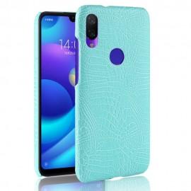 Coque Xiaomi Mi Play Croco Cuir Turquoise