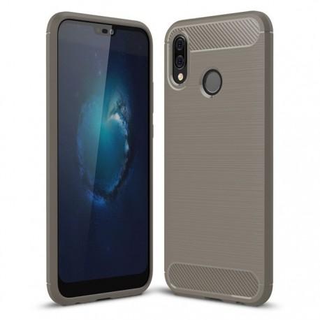 Coque Silicone Huawei P20 Lite Brossé Grise
