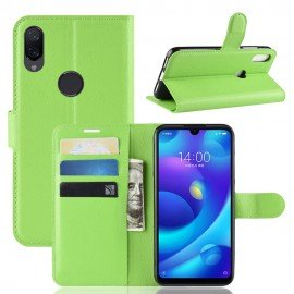 Etuis Portefeuille Xiaomi Mi Play Simili Cuir Vert