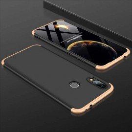 Coque 360 Samsung Galaxy A20 Noire et Dorée