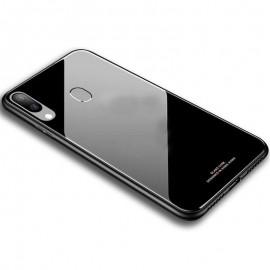 Coque Galaxy A20 Silicone et Verre Trempé Noire