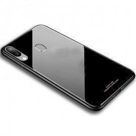 Coque Galaxy A40 Silicone et Verre Trempé Noire