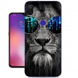 Coque Silicone Xiaomi Mi Play Lion avec Lunettes