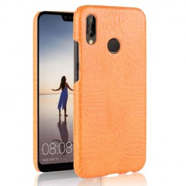 Coque Huawei P20 Lite Cuir Orange