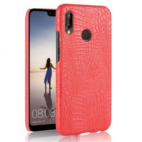 Coque Huawei P20 Lite Cuir Rouge