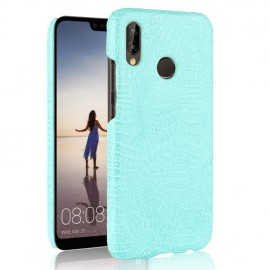 Coque Huawei P20 Lite Cuir Turquoise