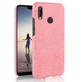 Coque Huawei P20 Lite Cuir Rose