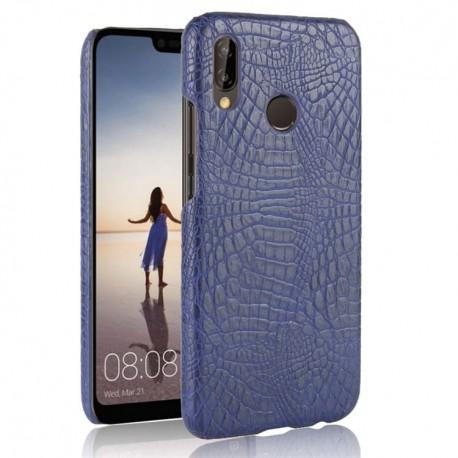 Coque Huawei P20 Lite Cuir Bleu