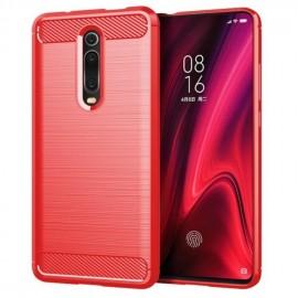 Coque Silicone Xiaomi Redmi K20 Brossé Rouge