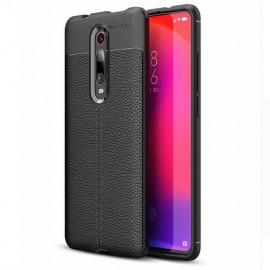Coque Silicone Xiaomi Redmi K20 Cuir 3D Noir