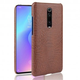 Coque Xiaomi Redmi K20 Croco Cuir Marron