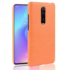 Coque Xiaomi Redmi K20 Croco Cuir Orange
