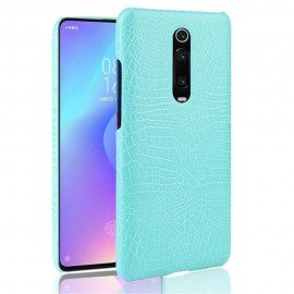 Coque Xiaomi Redmi K20 Croco Cuir Turquoise