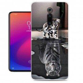 Coque Silicone Xiaomi Redmi K20 Chat Mirroir