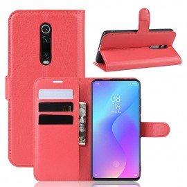 Etuis Portefeuille Xiaomi Redmi K20 Simili Cuir Rouge