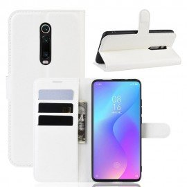 Etuis Portefeuille Xiaomi Redmi K20 Simili Cuir Blanche
