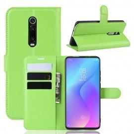 Etuis Portefeuille Xiaomi Redmi K20 Simili Cuir Vert