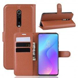 Etuis Portefeuille Xiaomi Redmi K20 Simili Cuir Marron