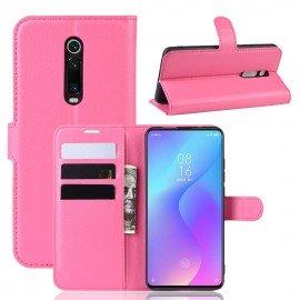 Etuis Portefeuille Xiaomi Redmi K20 Simili Cuir Fushia
